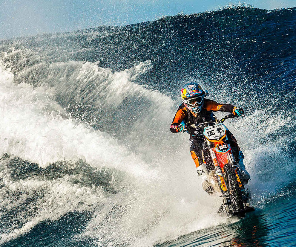extreme sports crazy sport water cool ride coolest robbie maddison diving dirt waves magazine bike death bikes rides stunts tearing