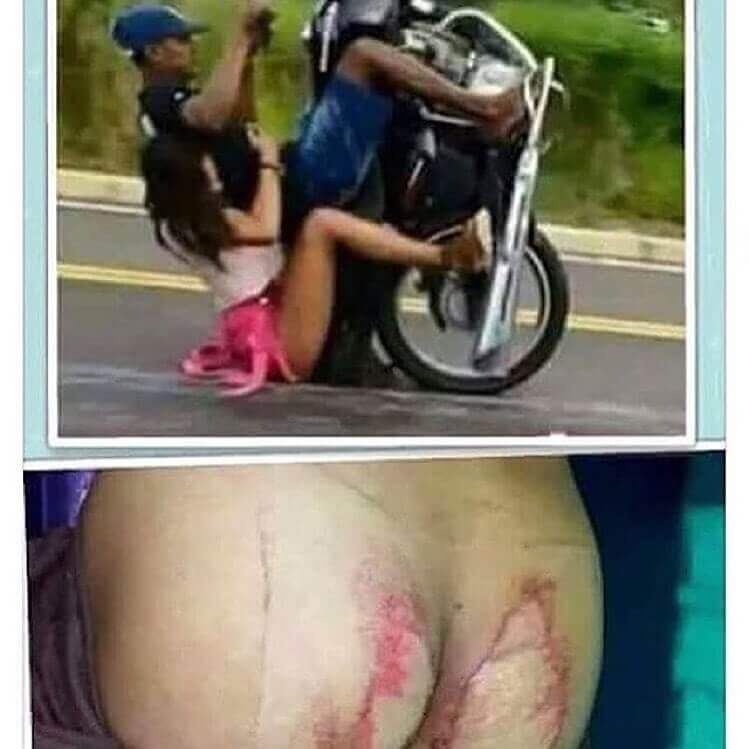 never-wear-shork-skirt-when-you-are-on-a-motobike-the most shocking photos