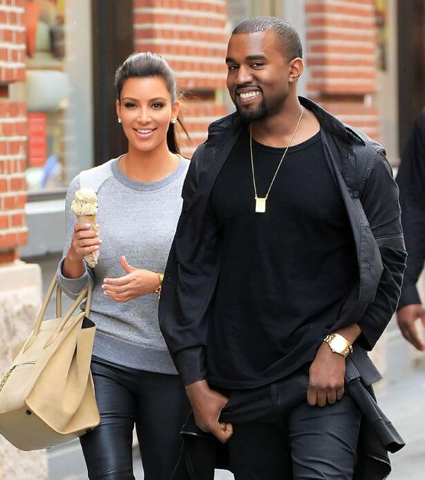 Kanye-West-and-Kim-Kardashian-the kardashian family