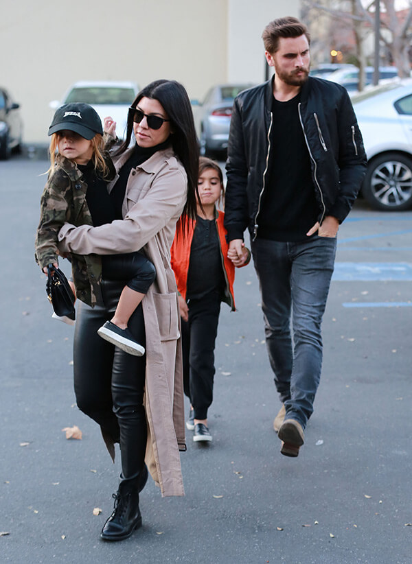 Kourtney-has-been-in-relationship-with-Scott-Disick-the kardashian family