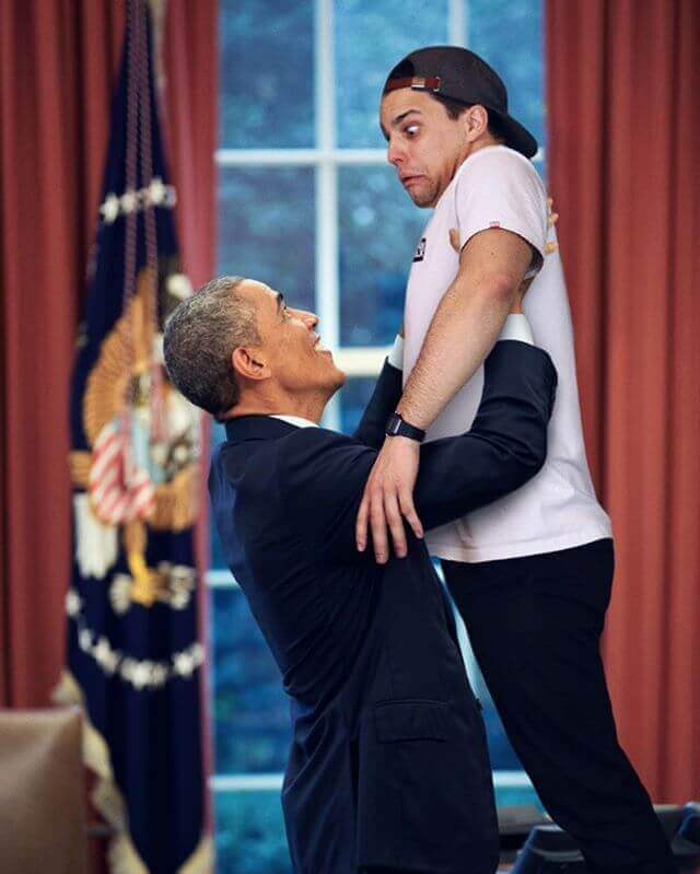 hilarious-photos-of-guy-photoshops-himself-into-celebrities-photos-9-funny photoshop pictures